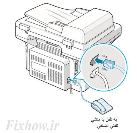 تنظیمات فکس سامسونگ 4521f | دریافت و ارسال فکس پرینتر SCX-4521F